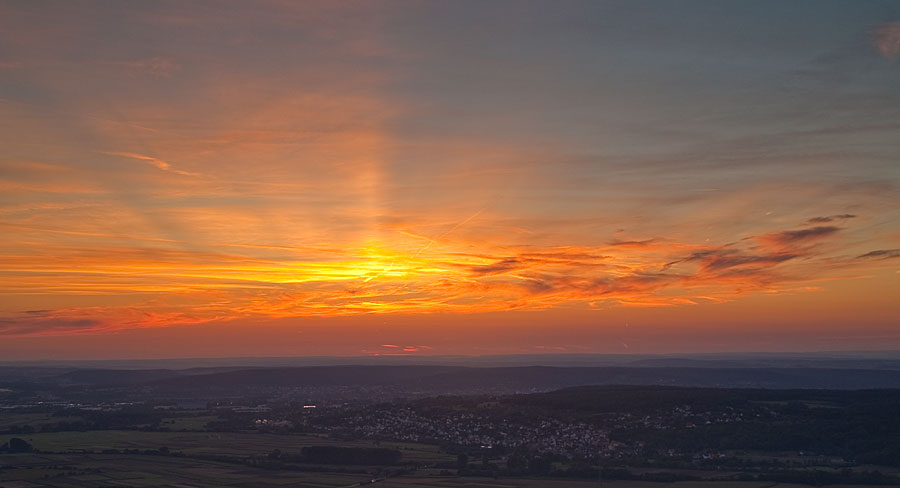 Sunset over Franconia